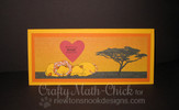 Lions Love Card | Wild About Zoo | 4x6 photopolymer Stamp Set | Newton's Nook Designs