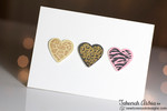 Animal Print Hearts Love/Valentine Card | Wild About Zoo | 4x6 photopolymer Stamp Set | Newton's Nook Designs