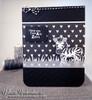 Zebra Love Card | Wild About Zoo | 4x6 photopolymer Stamp Set | Newton's Nook Designs