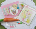 Bunny Spring Cards | Bunny Hop | 3x4 photopolymer Stamp Set | Newton's Nook Designs