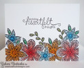 Heartfelt flower Card | Beautiful Blossoms | 4x6 photopolymer Stamp Set | Newton's Nook Designs