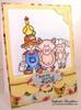 Friendship Farm Card | Farmyard Friends | 4x6 photopolymer Stamp Set | Newton's Nook Designs