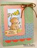 Birthday Cat Card | Newton's Birthday Flutter | 3x4 photopolymer Stamp Set | Newton's Nook Designs