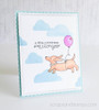 Dachshund Kindness Card | Delightful Doxies | 4x6 photopolymer Stamp Set | Newton's Nook Designs