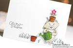 Bear and Flowers Friendship Card | Garden Whimsy | 4x6 photopolymer Stamp Set | Newton's Nook Designs