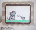 Get Well Cat Card | Newton's Sick Day | 4x6 photopolymer Stamp Set | Newton's Nook Designs
