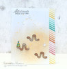 Inch Worm Card | In Slow Motion | 4x6 Photopolymer Stamp Set | Newton's Nook Designs