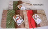 Set of Holiday Cards using Tags | Jolly Tags | 4x6 Photopolymer Stamp Set | Newton's Nook Designs
