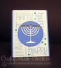Happy Hanukkah Card | Simply Seasonal | 4x6 Photopolymer Stamp Set | Newton's Nook Designs