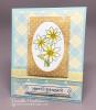 Daisy Flower card using Garden Starter Stamp Set by Newton's Nook Designs