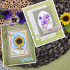 Sunflower and Pansy cards using Flower Garden Stamp Set by Newton's Nook Designs