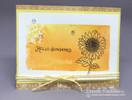 Sunflower card using Flower Garden Stamp Set by Newton's Nook Designs