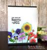 Flower card using Flower Garden Stamp Set by Newton's Nook Designs
