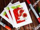 Poppies Flower card using Flower Garden Stamp Set by Newton's Nook Designs