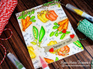 Watercolor Vegetable card using Vegetable Garden Stamp Set by Newton's Nook Designs