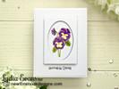 Flower card card using Garden Window Die Set  & Flower Garden Stamp setby Newton's Nook Designs