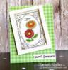 Shaker window card card using Garden Window Die Set  & Flower Garden Stamp setby Newton's Nook Designs