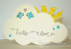 Cloud Card | Winged Wishes Stamp Set by Newton's Nook Designs