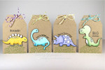 Dinosaur Tags using Prehistoric Pals Stamp Set by Newton's Nook Designs