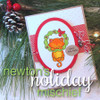 Deck the Halls Cat in Wreath Card | Newton's Holiday Mischief Stamp Set by Newton's Nook Designs