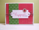 Happy Holidays Card using Holiday Wishes Stamp set by Newton's Nook Designs