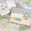 Snowman Card made with Frozen Friends by Newton's Nook Designs