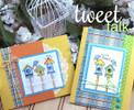 Birdhouse cards | Tweet Talk stamp set by Newton's Nook Designs