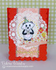 Winston as a Panda bear Birthday card  | Wintston's Birthday Bear stamp set by Newton's Nook Designs
