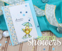 Showers of Love Card | Spring Showers stamp set by Newton's Nook Designs.