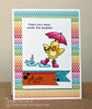 Get Well Duck with Umbrella Card | Spring Showers stamp set by Newton's Nook Designs.