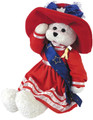 """Betsy Bear In Patriotic Outfit """"God Bless America"""" Chantilly Lane Bear #23"""
