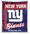 "New York Giants 50"" x 60"" Mink Sherpa Throw"