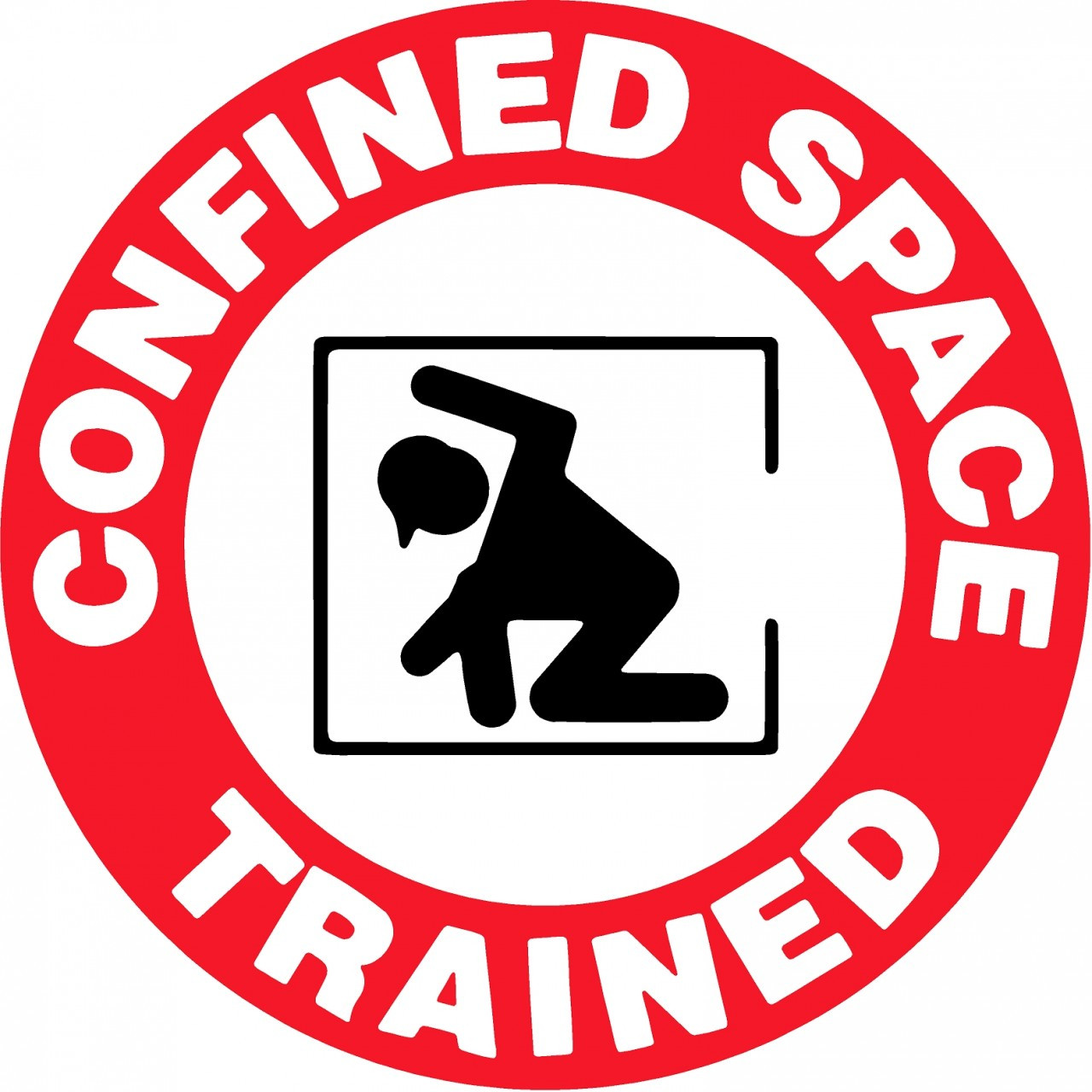 Confined space trained sticker for Space decals