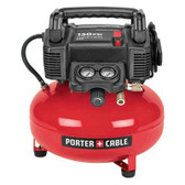 Porter Cable 150 PSI, 6 Gal Oil-Free Pancake Compressor