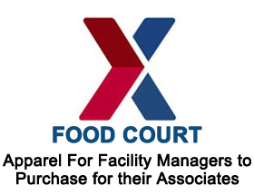 Food Court - Apparel for facility managers to purchase for their associates.