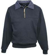 645-Alert: Job Shirt 1/4 Zip with Denim Collar by Tri-Mountain