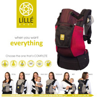 Lillebaby - COMPLETE Airflow Baby Carriers, Charcoal With Berry