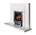 Aurora Belair Marble Fireplace in China White