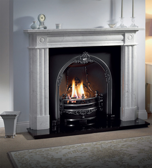 Chiswick Cararra Marble Surround Gallery Fireplace Collection Lowest Prices In The Uk
