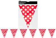 DOTS RED FLAG BANNER 3.6m (12')