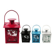 Glass Tealight Lanterns Random Colours