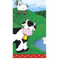 FARM FRIENDS PLASTIC TABLECOVER