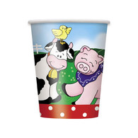 FARM FRIENDS 8 x 270ml (9oz) PAPER CUPS