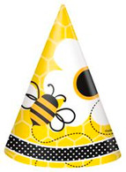 BUSY BEES 8 PARTY HATS