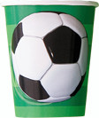 3D SOCCER 8 x 270ml (9oz) PAPER CUPS