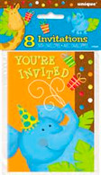 JUNGLE PARTY 8 INVITATIONS