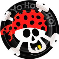 "PIRATE FUN 8 x 18cm (7"") PAPER PLATES"