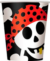 PIRATE FUN 8 x 270ml (9oz) CUPS