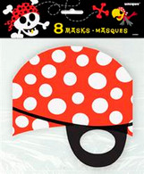 PIRATE FUN 8 PARTY MASKS