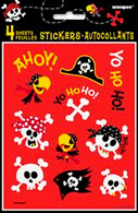 PIRATE FUN 4 STICKER SHEETS